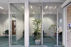 A Glass Office Divider