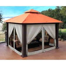 Portable Patio Covers Paragon Ft X Ft Top Gazebo With Privacy
