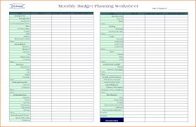 Financial Planner Worksheet Personal Budget Spreadsheet Excel