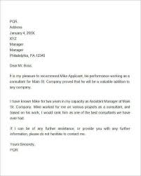 sample letter employee 12 sample recommendation letters for employment in word