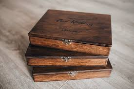 set 5 wood box videographers packaging rustic wood wedding box photo box unique gifts wooden b