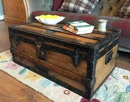 wooden trunk coffee tables dark wood chest table