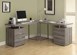image corner computer. 72-inch X 30-inch Corner Computer Desk In Grey Image