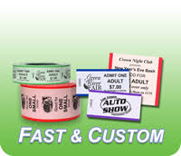 custom roll tickets custom roll ticket printing