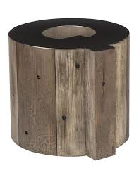 Wooden Alphabet Q Side Table