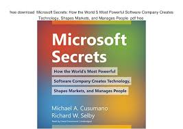World Office Download Free Free Download Microsoft Secrets How The World S Most