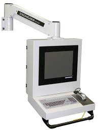 wall mounted monitor support arm medical with keyboard arm articulated ministation