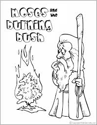 Small Picture moses and burning bush coloring pages Sunday