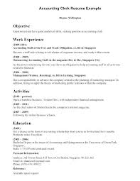 Accounting Clerk Resume Examples Clerical Resume Examples Payroll