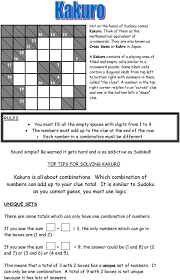 Sudoku Number Combinations Chart This Means That Each Number Should Only Appear Once In Each