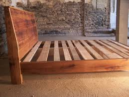 a custom made modern reclaimed wood bed made to order from the strong oaks wood custommade com
