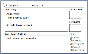 User Story Requirements Template User Story In Agile Scrum