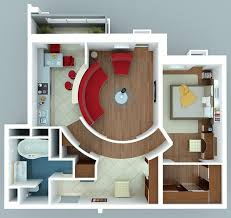 single bedroom house interior design and lay out plans