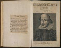 frontispiece from antique book shakespeare es