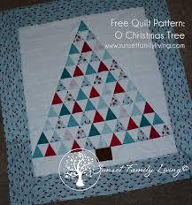 O Christmas Tree Quilt Pattern – Sunset Family Living & Free Christmas Tree Quilt Pattern Adamdwight.com