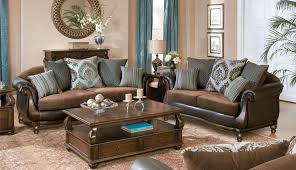 blue walls wall dark sofa teal brown decorating gray living beige design room sets two large