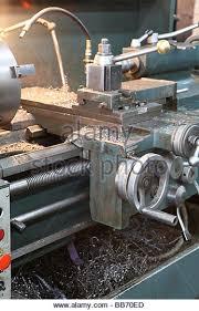 machine shop lathe. lathe in a machine shop - stock image 6