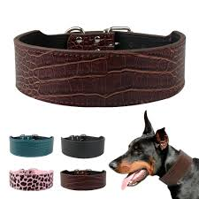 2019 2 inch wide leather dog collars pet collar neck for 15 24 medium large dogs from etopets 5 8 dhgate com