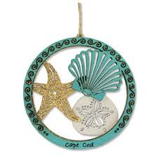 Cape Cod Sea Shells Wood Ornament