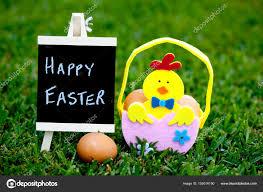 Easter Egg Hunt Egg Felt Basket With Chick Decoration On