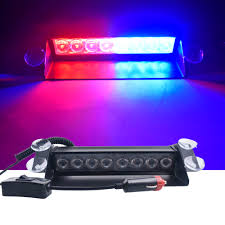 Why Are Police Lights Red And Blue Us 11 32 15 Off Dc 12v 8leds Car Led Light Police Strobe Light Dash Emergency Suction Cup Warning 3 Flashing Fog Lights Red Blue Yellow Blue In Car
