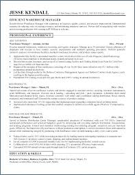Warehouse Job Description For Resume Warehouse Responsibilities Resume Emelcotest Com