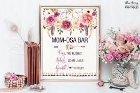 Dream Catcher Baby Shower Decorations Mesmerizing Printable MOMOSA BAR Bohemian Baby Shower Mimosa Bar Sign Boho