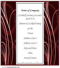 Business Invitation Card Format Corporate Event Invitation Template