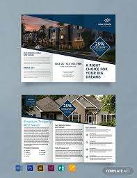 Real Estate Brochure Template Free Free Real Estate Trifold Brochure Template Word Psd