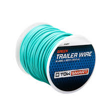 trailer wiring connector 4 way flat 21′ towsmart 100 ft x 2mm trailer wire green 100 ft x 2mm trailer wire green