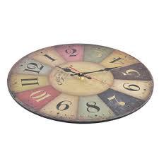 Retro Kitchen Wall Clocks Vintage Wood Wall Clock Home Kitchen Antique Shabby Chic Retro