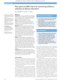 Pdf How Good Are Bmi Charts For Monitoring Childrens