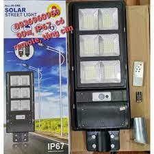 Có remote - Đèn Led năng lượng mặt trời 90w liền thể cảm biến siêu sáng -  Tặng đế gắn đèn, bảo hành 12 tháng 1 đổi 1