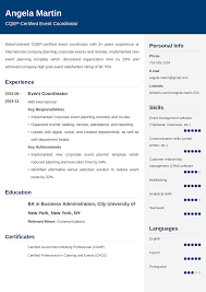 Duties Of An Event Planner Event Planner Resume Sample 25 Examples And Best Writing Tips