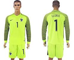Jersey 1 Lloris Sale Cheap Sleeves France Long For Green Country Goalkeeper Soccer