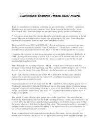 Trane Seer Rating Chart Heat Pump Ac Unit Cost Techtimtim Info
