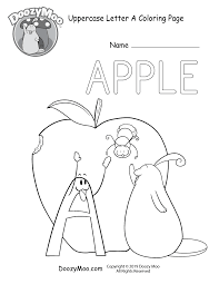 If your child does not like to color, follow his lead. Cute Alphabet Coloring Pages Free Printables Doozy Moo