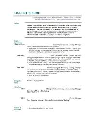 Sample Of High School Resume For College Application Images With