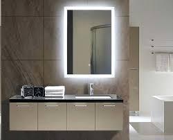 Backlit Mirrors For Bathrooms Illuminated Bathroom Homebase Best