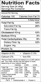 nutritional information per serving