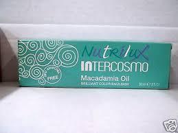 Nutrilux Hair Colour Chart Intercosmo Nutrilux Macadamia Oil Permanent Cream Hair Color