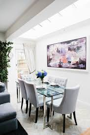 glass top tables and chairs. Glass Table Chairs Dining Room Traditional With Top Gray Tufted Modern Tables And