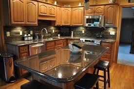 black granite countertops with tile backsplash. Granite Countertops And Tile Backsplash Ideas Eclectic-kitchen Black With