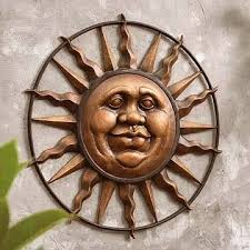 let our outdoor wall art beautify your garden shop hayneedle s outdoor wall decor wall plaques outside wall art and selection of outdoor wall  on sun moon garden wall art with outdoor sun wall plaque garden pinterest moon and moon art