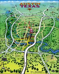 austin texas tourist map  austin texas • mappery