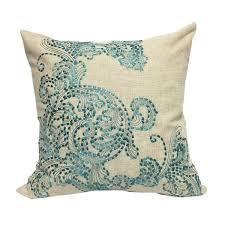teal accent pillows. Modren Pillows Stunning Embroidered Teal Poly Linen Throw Pillow By Home Accent  Pillows To