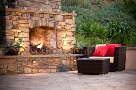 western outdoor fireplaces back