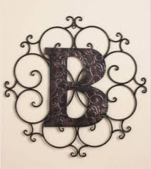 personalized letter quot b quot metal wall art  on wall art letter b with amazon personalized letter b metal wall art great gift