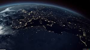 desktop background space earth. Wonderful Background Earth From Space At Night Throughout Desktop Background 0