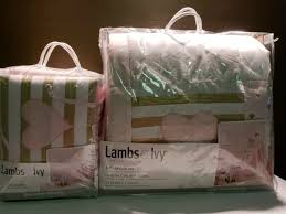 lambs ivy baby love pink gold heart 4